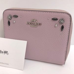 Coach Studded Small Wallet Lavender